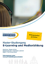 Flyer Master E-Learning und Medienbildung